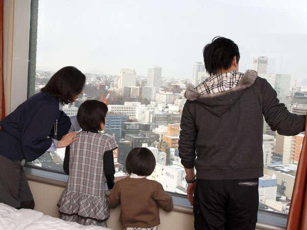 ロイヤルフロアからは、札幌市内の景色が楽しめる