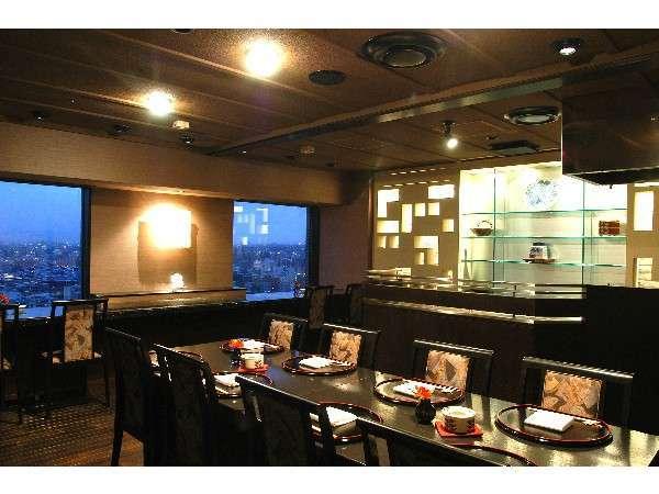 札幌の夜景を楽しみながら食事ができる最上階レストラン