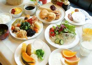 5月から朝食がリニューアル♪蒸し野菜等道産食材が満載!