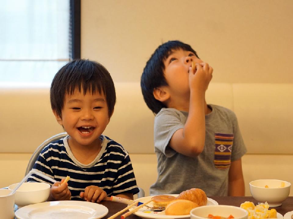 朝食がバイキングならお子様も大喜び
