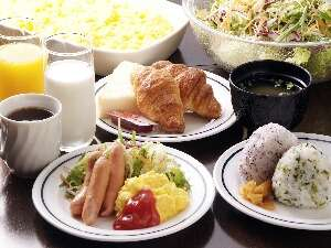 朝食は無料サービス