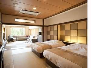 一般客室ながらも55~62㎡と広々としたゆとりある和洋室。