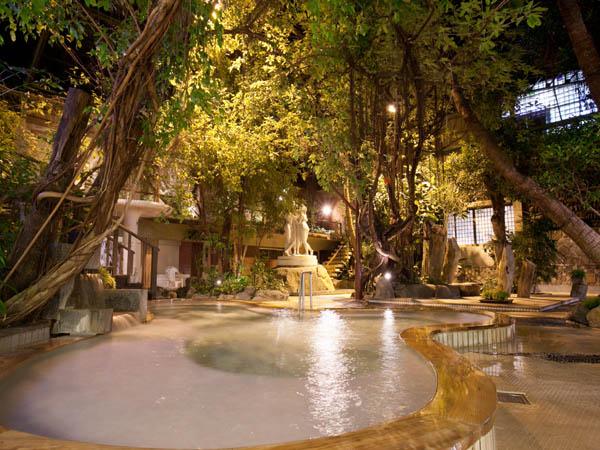 一番人気のジャングル風呂!