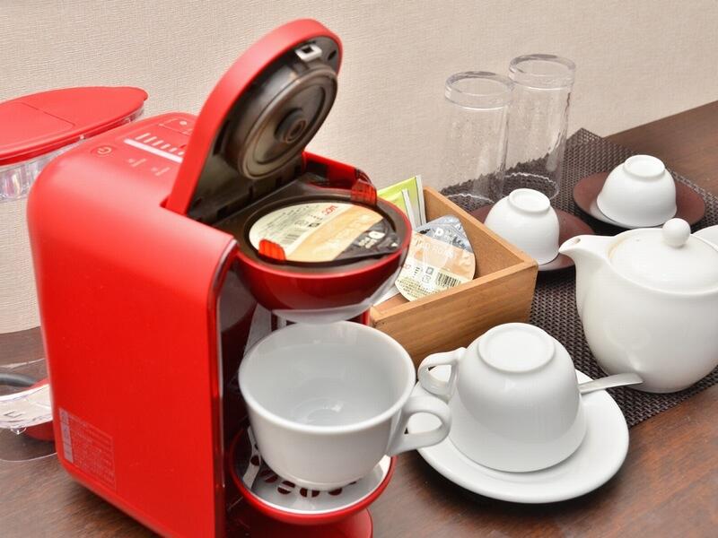 客室に備え付けられているコーヒーマシン