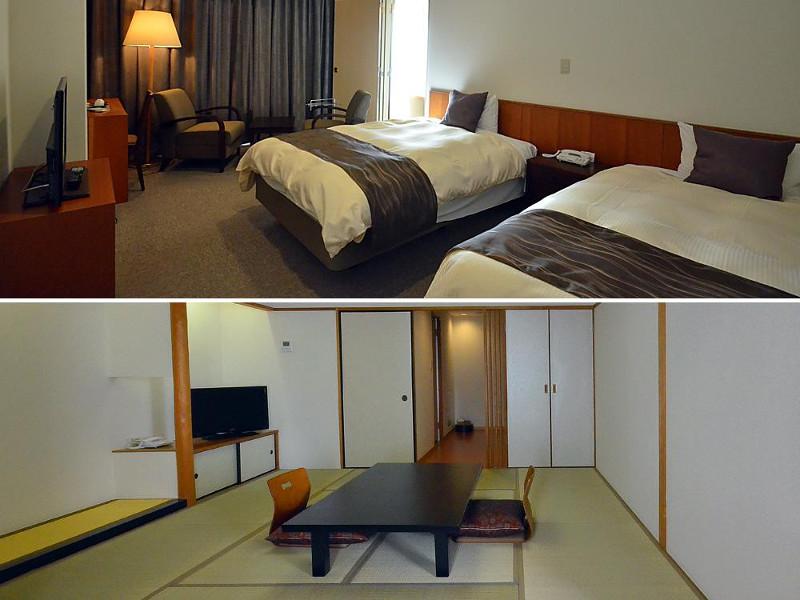 室内のドアで和室とベッドルームを行き来できる