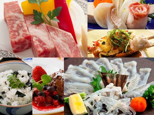 長崎県産牛や河豚のてっさ、雲仙もみじ豚やしまばら鶏など地元食材を堪能!