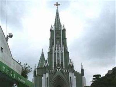 アンシンメトリーな姿が珍しい聖フランシスコ・ザビエル記念教会