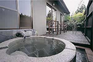 内湯・露天風呂付き和洋室の露天風呂