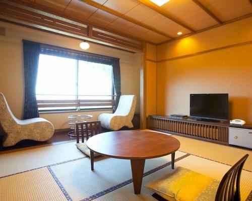 きれいで山景色が望める一般客室