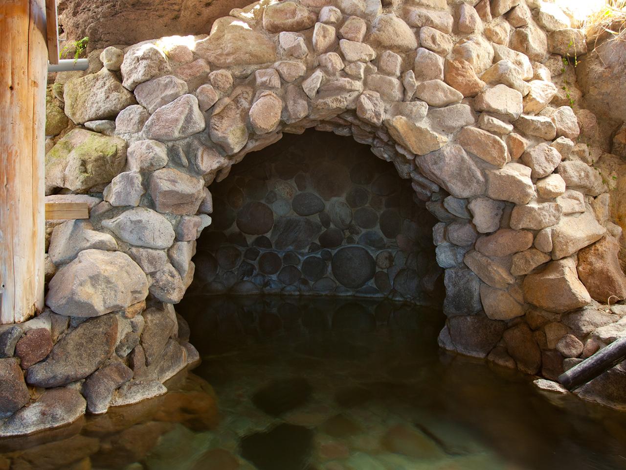 無料家族湯洞窟風呂