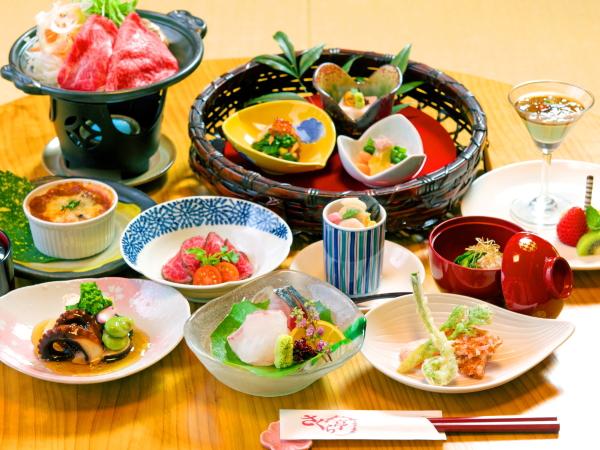 季節の食材を使用した和洋折衷料理