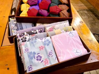 女性限定貸出の色浴衣と色帯