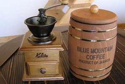 各部屋には、珈琲豆が用意されている