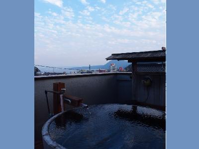 別府湾が一望できる屋上展望露天風呂