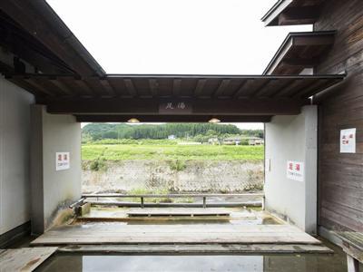 充実した館内施設(足湯)で、湯上がり後も満喫