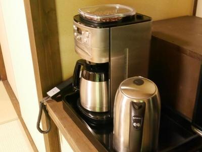 全室コーヒーメーカーを完備