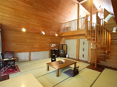 洋風コテージ「さくらの村」の客室