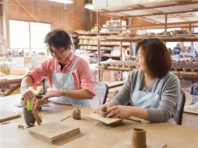 事前予約で陶芸体験できる施設「吟松窯」