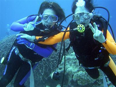 ■体験ダイビング■初めての方も安心♪当館スタッフが安全に案内します