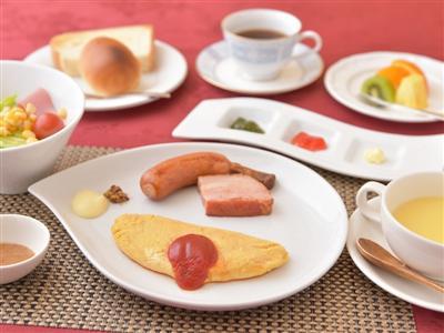 和と洋から選ぶことができる朝食