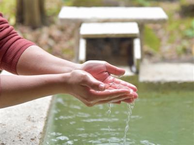エメラルドグリーンに輝くトロッとした源泉かけ流しの湯を、客室で独り占め