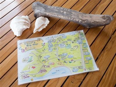 手作りマップで西表島を隅々まで散策