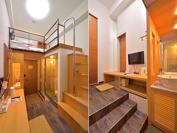 角部屋のため、バルコニー出入り口とテーブル側に小さな窓があります。