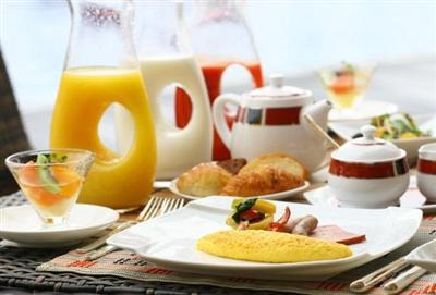 朝食はブッフェスタイル。黒糖フレンチトーストが人気