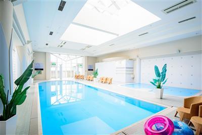 年中利用できる屋内プールとフィットネスジムは宿泊者は無料なのが魅力