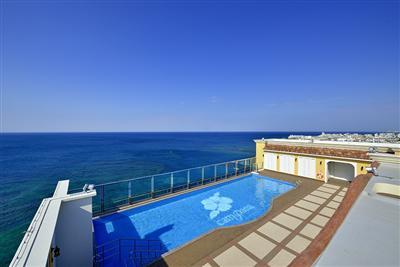 屋上に眺めの良いプールを完備