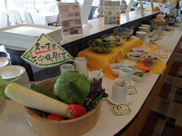 100種類以上の食材を利用した世界一沖縄料理が豊富なホテル朝食