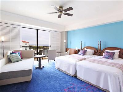 展望や部屋タイプによって違う色とりどりな部屋