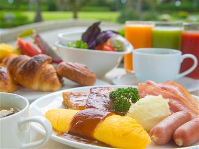 野菜が主役のラグナの朝ごはん