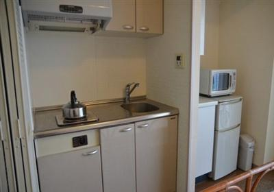 長期の滞在に適したキッチン付き