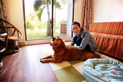 愛犬と一緒に久米島の自然を満喫