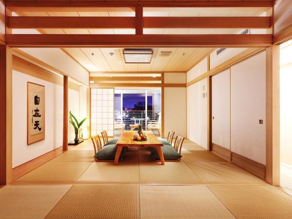 【海を望むバスルーム付き】二間の和室スイート 検索一覧用写真、部屋写真