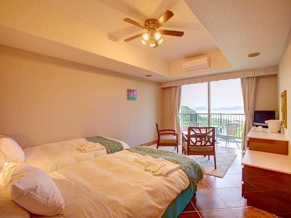 本館2~4階のスタンダードルーム(全56室)、人気コテージは28室完備