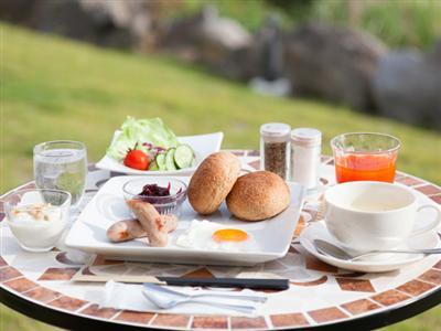 本部町の自然の恵みをたくさん使用した朝食で1日の活力を