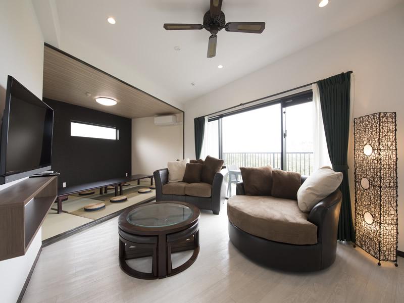 広く清潔感のある部屋はオーシャンビューやキッチン付きなどが揃う