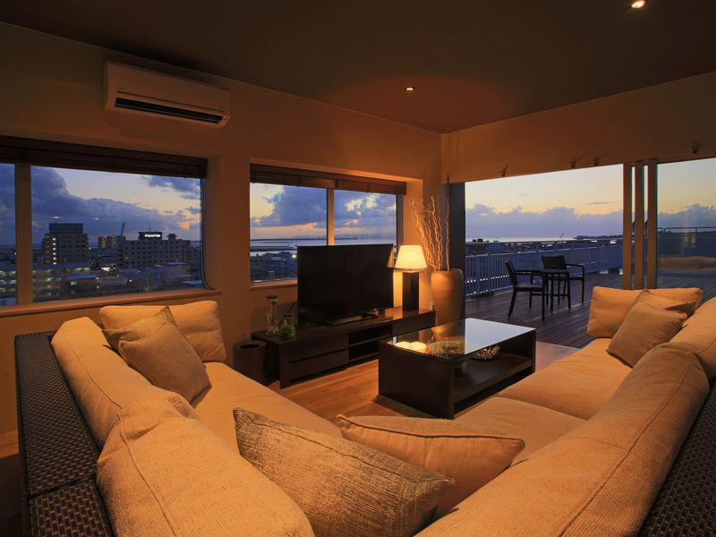 最上階の8階に1部屋だけ 1日1組限定でゆったり寛げる部屋