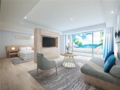 客室は島の自然をより近くに感じられるプライベート空間に