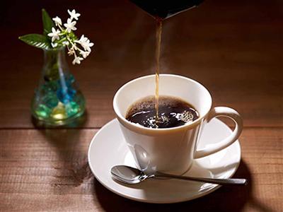 園内で採れる豆を使った沖縄産コーヒーが味わえる