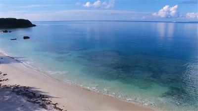 施設前に広がる、完全プライベートビーチ