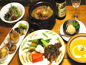 旬の高原野菜・日本海の魚介類をアレンジしたスローフード