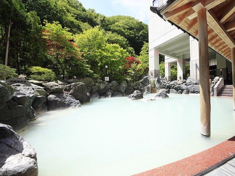 温泉リゾートの名に相応しい4泉質31もの浴槽で温泉を楽しむことができる