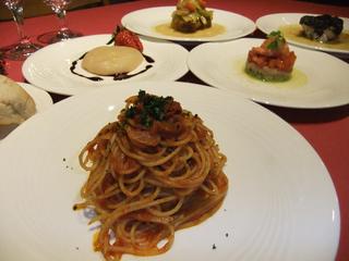 イタリアンフルコースディナーの夕食