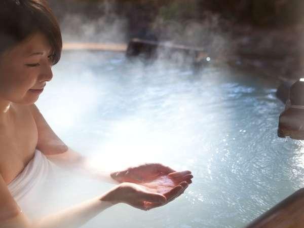 美肌効果もあるホテル自慢の湯の花