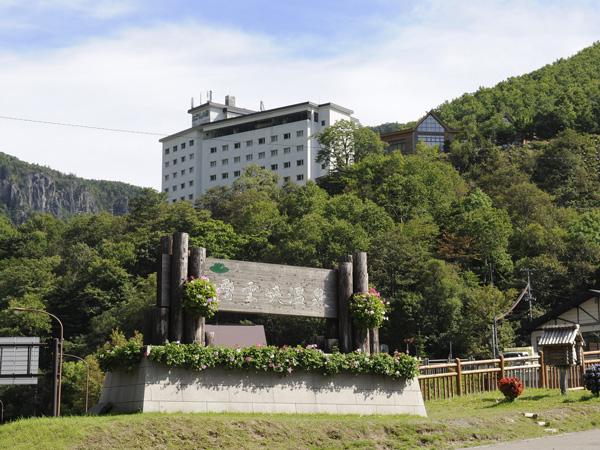 層雲峡温泉で一番高台にあり、源泉かけ流しの3つの大浴場と2つの露天風呂を持ったホテルです。