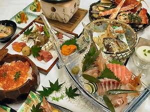 地場産食材を使った目にも鮮やかな「お祝い膳」。