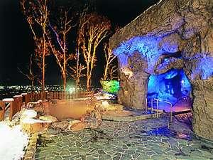 夜の洞窟露天風呂